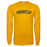 Gold Long Sleeve T Shirt-University of Northern Colorado