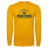 Gold Long Sleeve T Shirt-Bear Pride