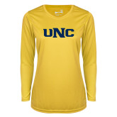 Ladies Syntrel Performance Gold Longsleeve Shirt-UNC