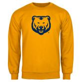 Gold Fleece Crew-UNC Bear Logo