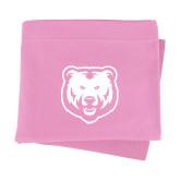Pink Sweatshirt Blanket-UNC Bear Logo
