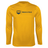Performance Gold Longsleeve Shirt-Track & Field