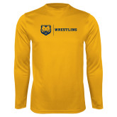 Performance Gold Longsleeve Shirt-Wrestling
