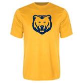 Performance Gold Tee-UNC Bear Logo