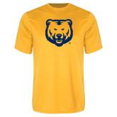 Performance Gold Tee-UNC Bear Logo