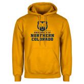 Gold Fleece Hoodie-Northern Colorado Stacked Logo