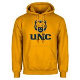 Gold Fleece Hoodie-UNC Bear Stacked