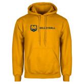 Gold Fleece Hoodie-Volleyball
