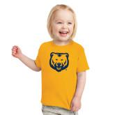 Toddler Gold T Shirt-UNC Bear Logo