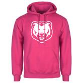 Fuchsia Fleece Hoodie-UNC Bear Logo
