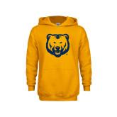 Youth Gold Fleece Hoodie-UNC Bear Logo