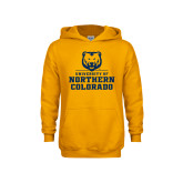 Youth Gold Fleece Hoodie-Northern Colorado Stacked Logo