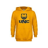 Youth Gold Fleece Hoodie-UNC Bear Stacked