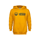 Youth Gold Fleece Hoodie-University of Northern Colorado Horizontal