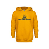 Youth Gold Fleece Hoodie-University of Northern Colorado Long Logo