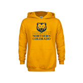 Youth Gold Fleece Hoodie-University of Northern Colorado Academic Stacked