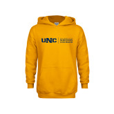 Youth Gold Fleece Hoodie-UNC Academic Block Horizontal