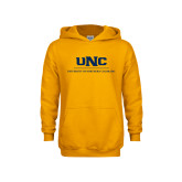 Youth Gold Fleece Hoodie-UNC Academic Block Verticle