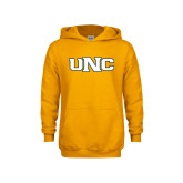 Youth Gold Fleece Hoodie-UNC Stroked Logo