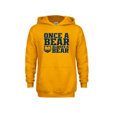 Youth Gold Fleece Hoodie-Once a Bear Always a Bear