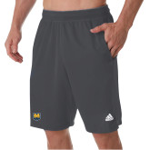 Adidas Charcoal Clima Tech Pocket Short-UNC Bear Logo