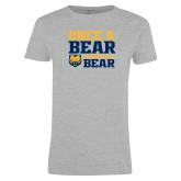Ladies Grey T Shirt-Once a Bear Always a Bear
