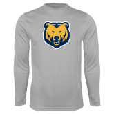 Performance Platinum Longsleeve Shirt-UNC Bear Logo
