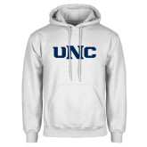 White Fleece Hoodie-UNC