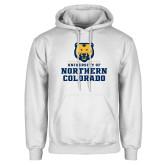 White Fleece Hoodie-Northern Colorado Stacked Logo