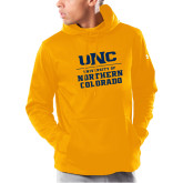 Under Armour Gold Armour Fleece Hoodie-UNC Collegiate Stacked