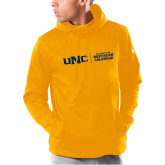 Under Armour Gold Armour Fleece Hoodie-UNC Collegiate Horizontal