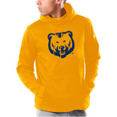 Under Armour Gold Armour Fleece Hoodie-UNC Bear Logo