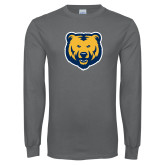 Charcoal Long Sleeve T Shirt-UNC Bear Logo