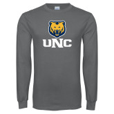 Charcoal Long Sleeve T Shirt-UNC Bear Stacked