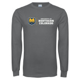 Charcoal Long Sleeve T Shirt-University of Northern Colorado Horizontal