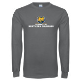 Charcoal Long Sleeve T Shirt-University of Northern Colorado Long Logo