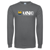 Charcoal Long Sleeve T Shirt-UNC University of Northern Colorado