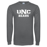 Charcoal Long Sleeve T Shirt-UNC Bears Collegiate