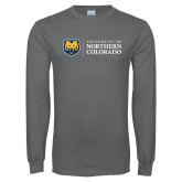 Charcoal Long Sleeve T Shirt-University of Northern Colorado Academic Horizontal