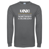 Charcoal Long Sleeve T Shirt-UNC Academic Block