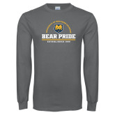 Charcoal Long Sleeve T Shirt-Bear Pride