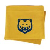 Gold Sweatshirt Blanket-UNC Bear Logo