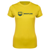 Ladies Syntrel Performance Gold Tee-Wrestling