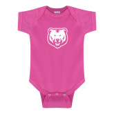 Fuchsia Infant Onesie-UNC Bear Logo