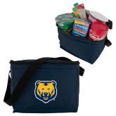 Six Pack Navy Cooler-UNC Bear Logo