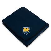 Navy Arctic Fleece Blanket-UNC Bear Logo