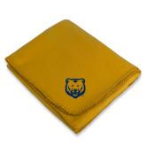 Gold Arctic Fleece Blanket-UNC Bear Logo