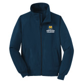 Navy Charger Jacket-Northern Colorado Stacked Logo