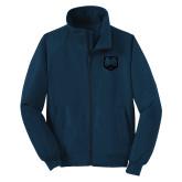 Navy Charger Jacket-UNC Bear Logo