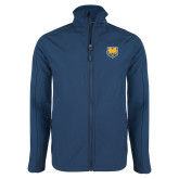 Navy Softshell Jacket-UNC Bear Logo